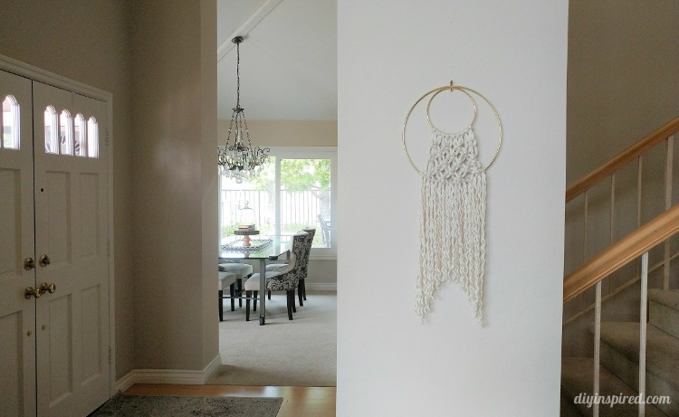 Easy Macram Wall Hanging With Hoops Diy Inspired