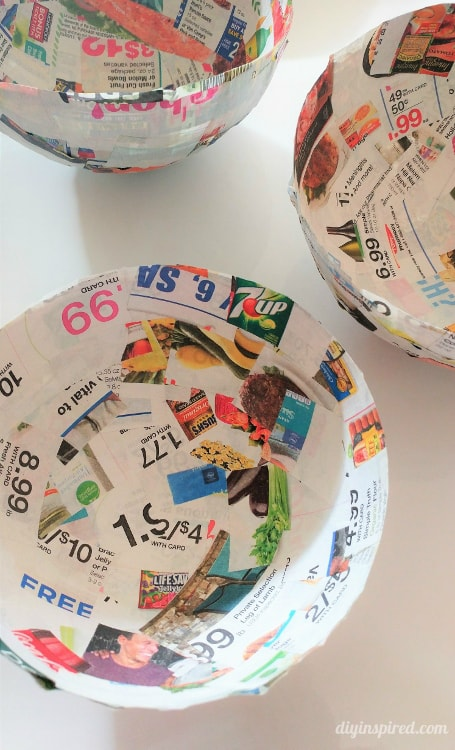 Paper Mache Bowls with Newspaper
