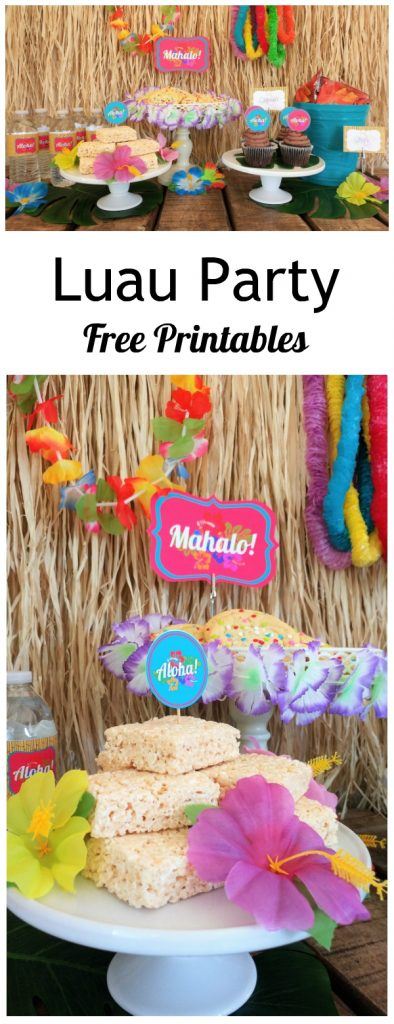 Luau Party Free Printables - DIY Inspired