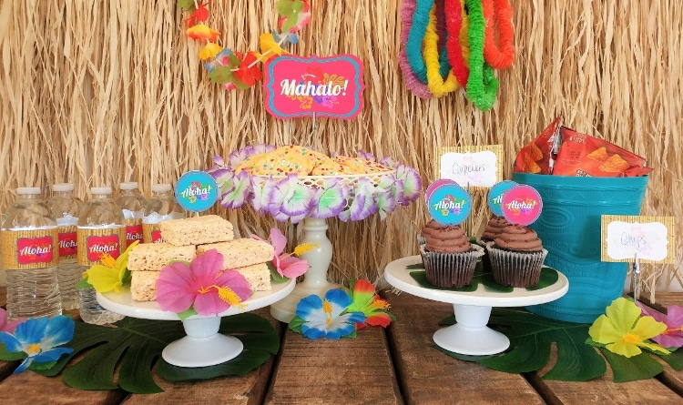 Tropical Themed Party Ideas Free Printables: Luau Party Free Printables