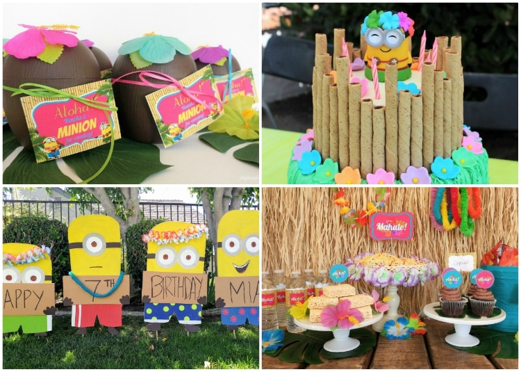 Minion Luau Birthday Party
