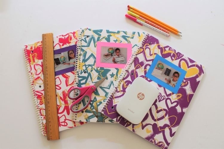 How to make back to school photo notebook labels for each school subject