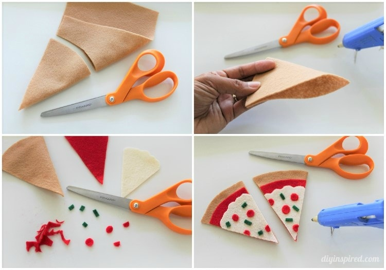 craft ideas using felt diy felt pizza bookmark diy inspired 3948