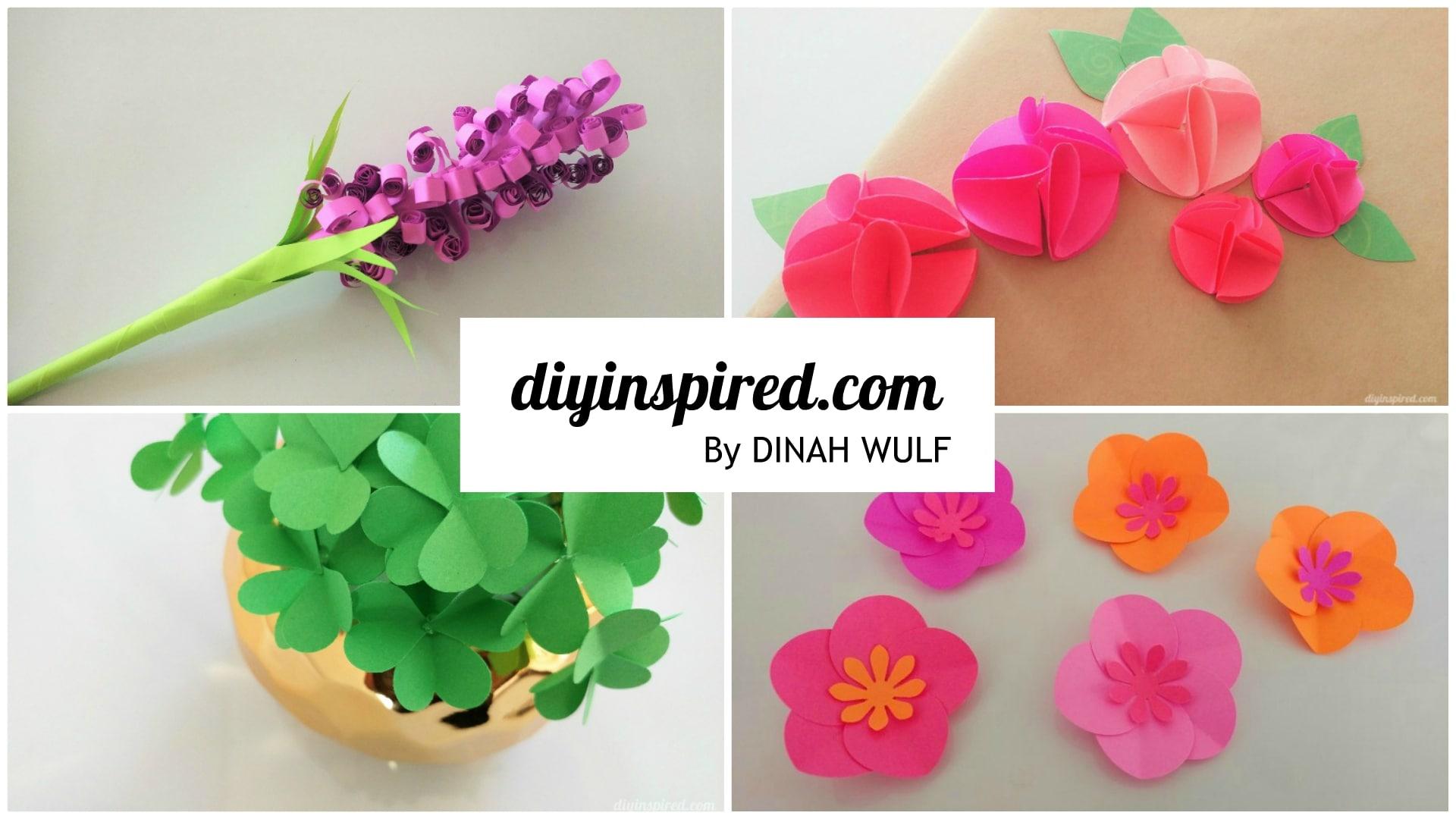 4 Easy Paper Flower Tutorials Diy Inspired
