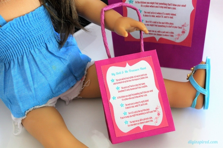 My Doll And Me Treasure Scavenger Hunt With Printables Diy Inspired