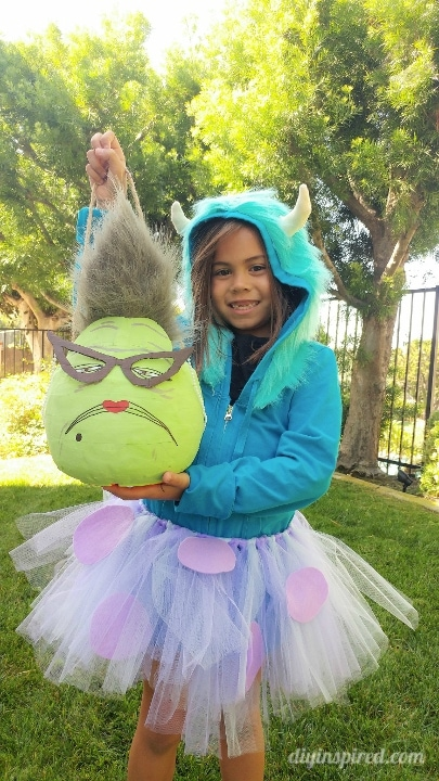 Be sure to check out Miau0027s sisteru0027s Boo costume and Mikey Trick or Treat pail I made! I hope to finish and share her Sully Costume soon!  sc 1 st  DIY Inspired & Monsters Inc Roz Trick or Treat Pail - DIY Inspired