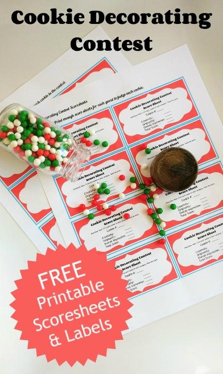 dessert contest score sheet