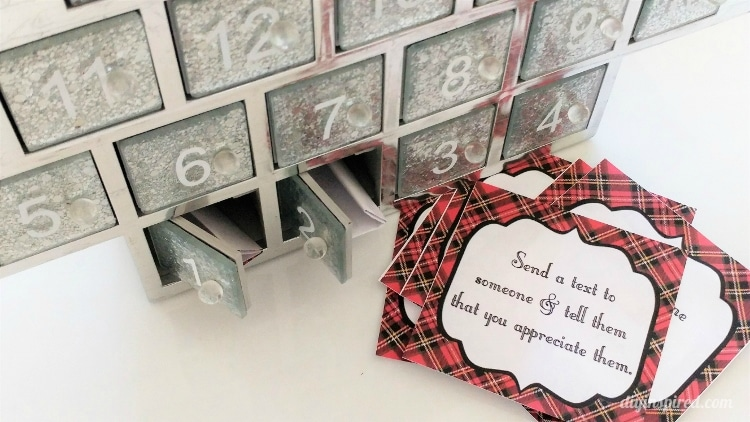 Advent Calendar Printable Kindness Notes Diy Inspired