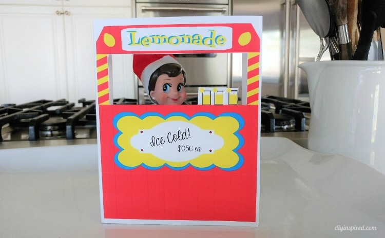 Get an Elf on a Shelf Printable Lemonade Stand for your Elf this Holiday Season