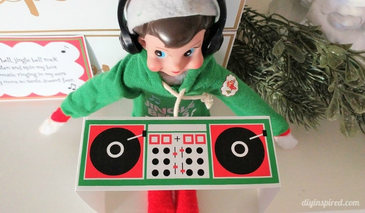 Get a Printable Elf DJ Booth with a Poem for Your Music Lover