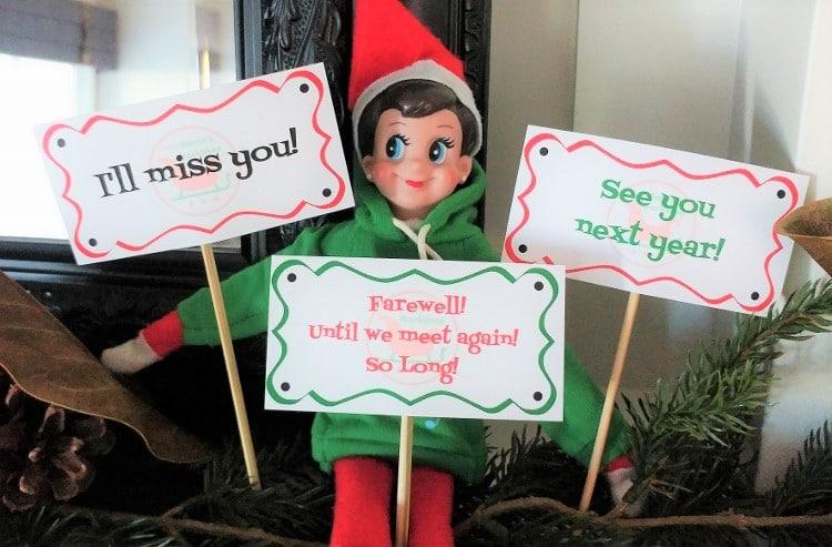 Printable Elf Signs Diy Inspired
