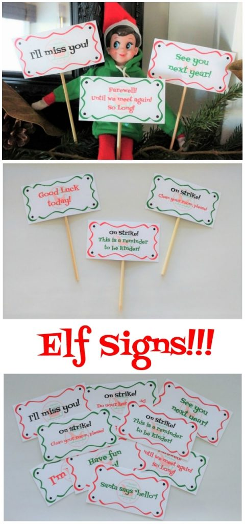 Make life Easier with These Printable Elf Signs for First Day, Last Day, and In Between
