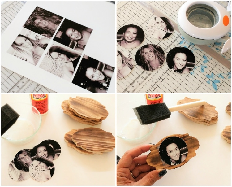 Make these rustic glam wood burned table place cards when entertaining this Christmas.