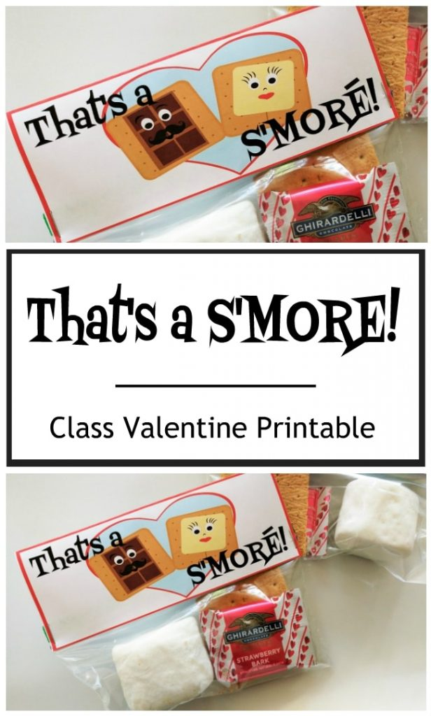 Get an Instant Download of this Fun S'More Class Valentine on Etsy