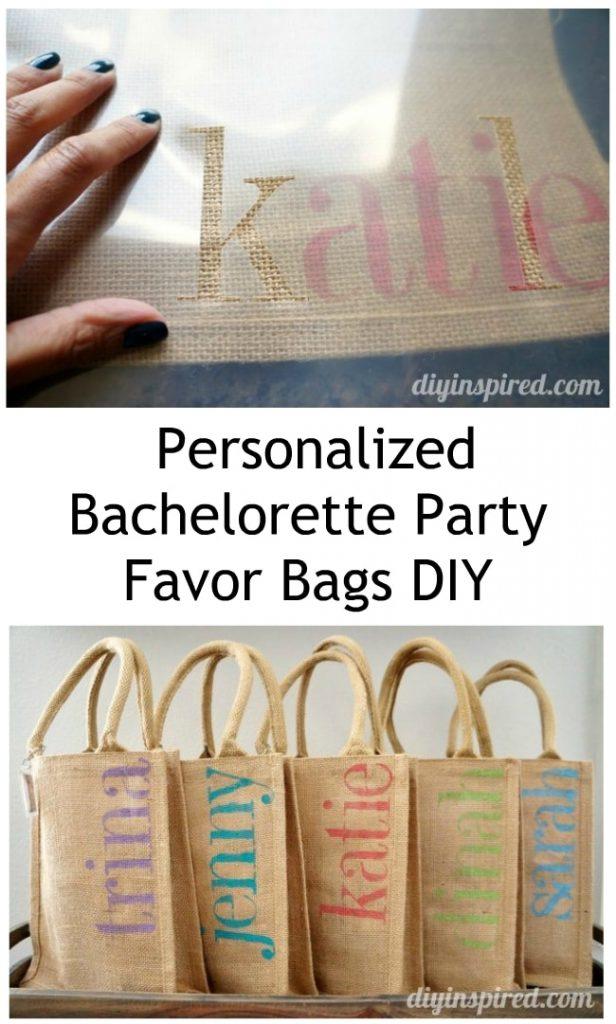 DIY Bachelorette Party Favor Bags - DIY Inspired