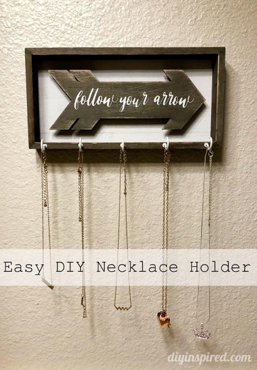 How to Turn Any Sign into a DIY Necklace Holder