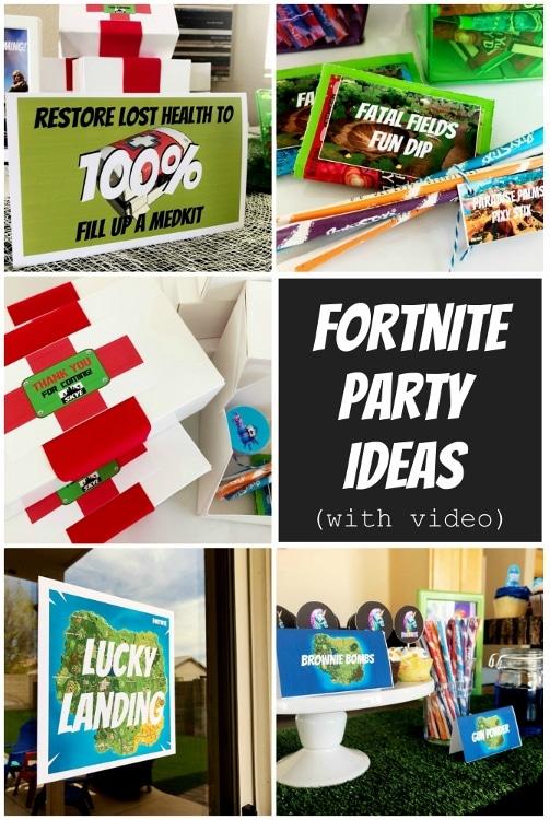 Fortnite Birthday Party Ideas - DIY Inspired