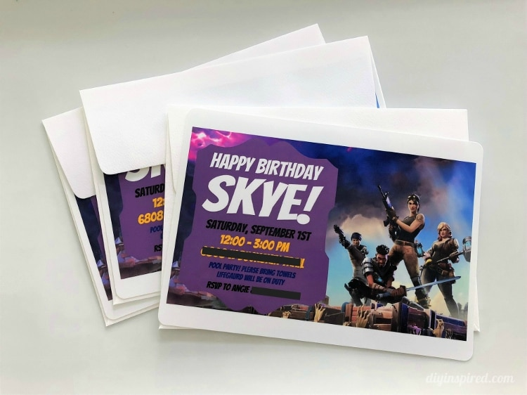 fortnite party signs - fortnite party invitations free