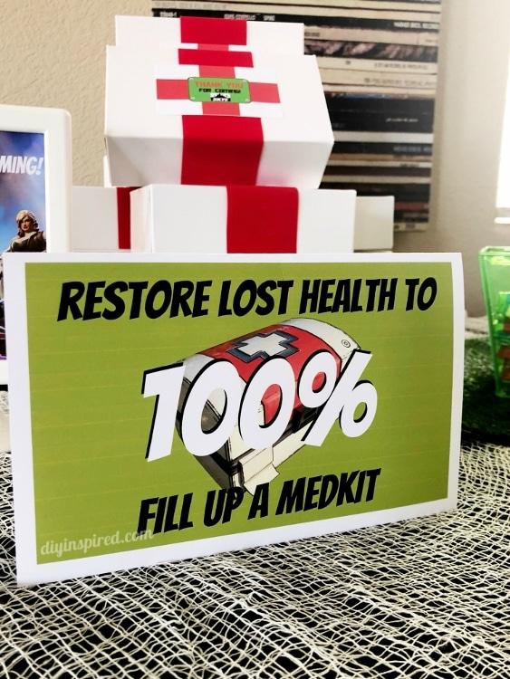 Fortnite Party Medkit Favor Boxes Diy Inspired