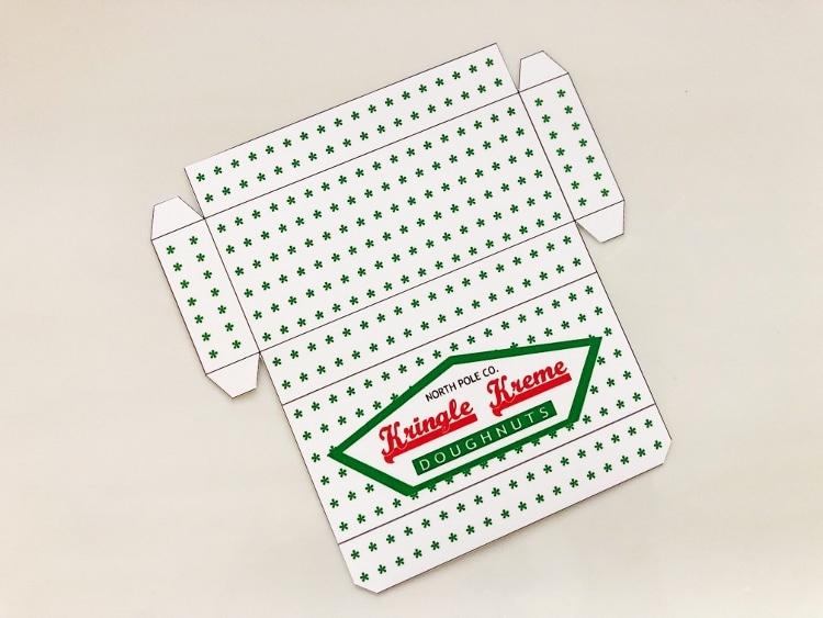 Elf Doughnut Box Printable Diy Inspired