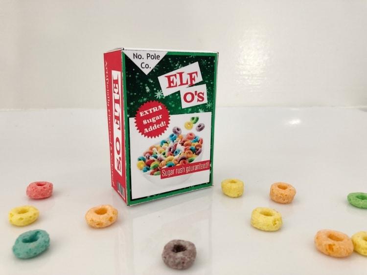 elf on the shelf donut box for fruit loops diy inspired