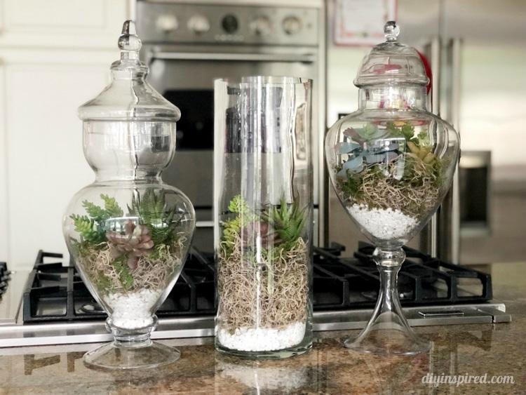 Diy Artificial Succulent Terrariums Diy Inspired