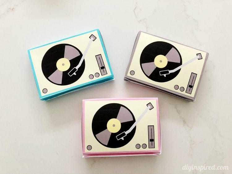 Paper Record Player Printables