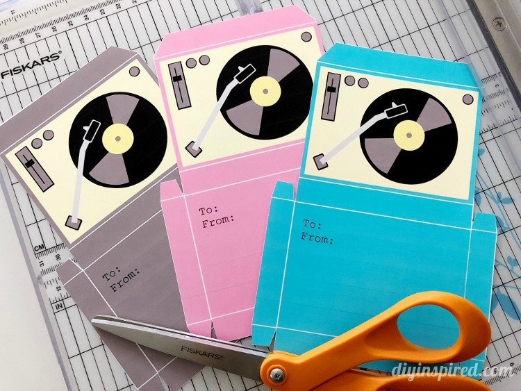 Printable Record Player Card Etsy