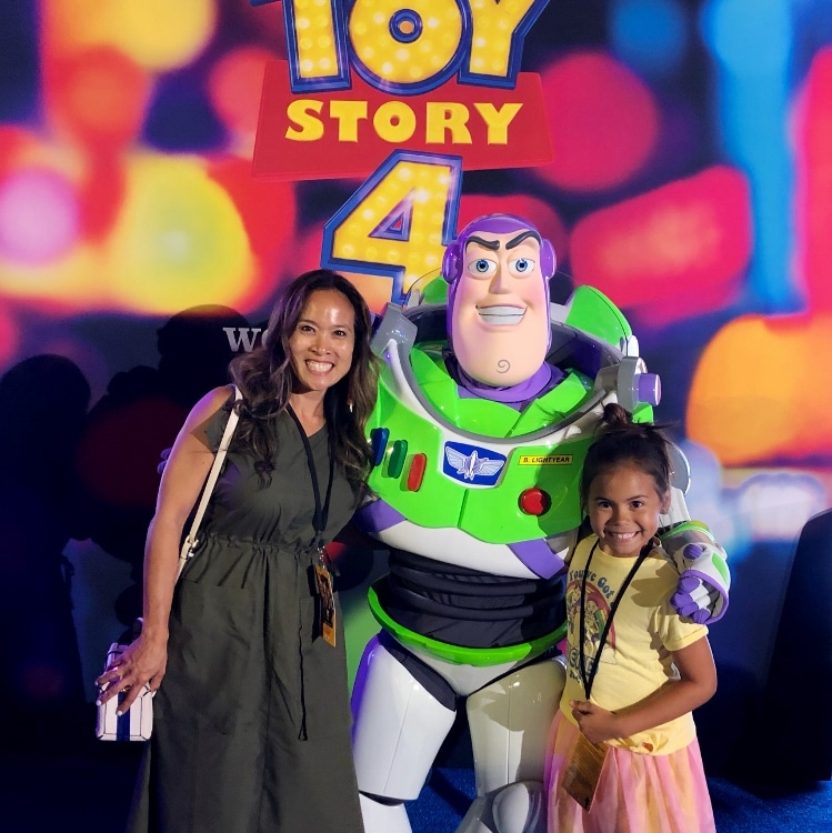 Dinah Wulf and Buzz Lightyear