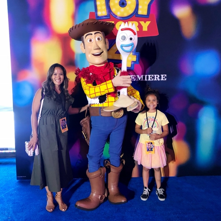 Dinah Wulf and Woody from Toy Story